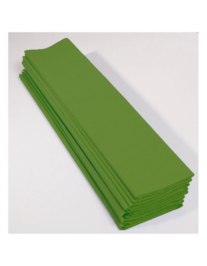 10 sheets crepe paper in various colours and 2 sizes