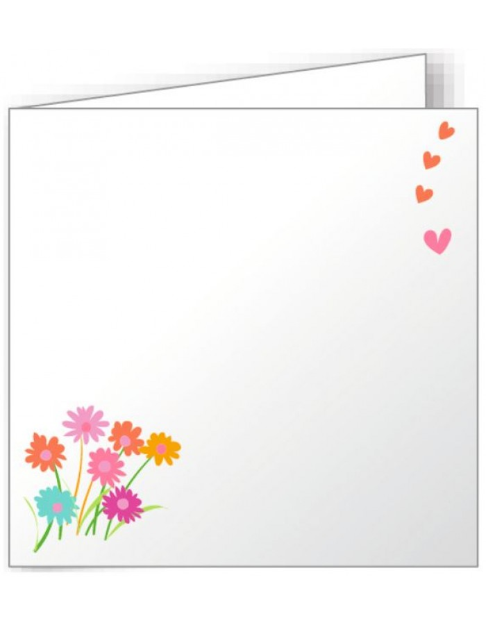 10 folded cards 160x160 mm colourful - wild flowers