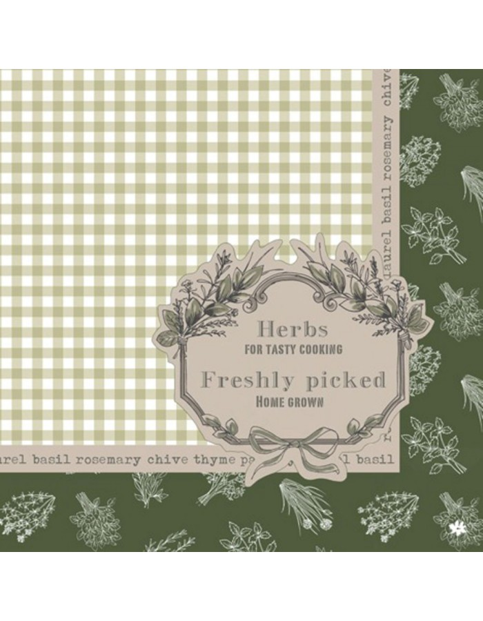 20 paper napkins My Own Garden herbal 33x33 cm