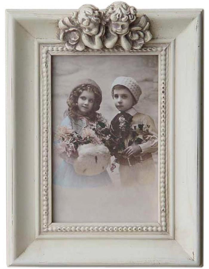 Clayre Eef 2462N Vintage Rahmen mit 2 Engeln für 10x15 cm ...