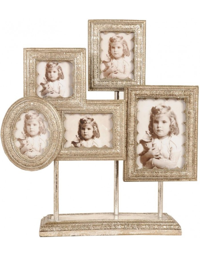 Clayre Eef 2863 barocke Rahmen Galerie weißgold 5 Fotos 38x44 cm ...