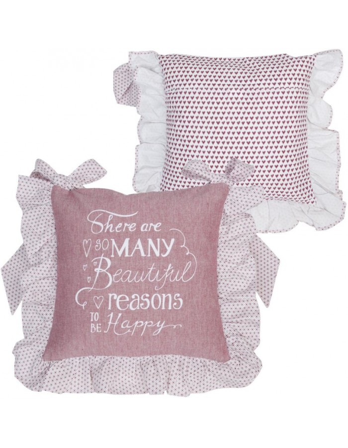 40x40 cm My Lovely Home II pillowcase red