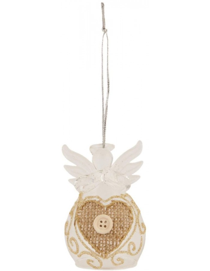 5x8 cm glass pendant with angel