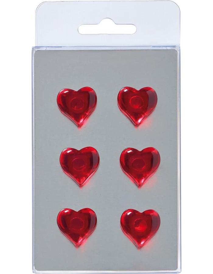 6 herz magnete dunkelrot walther fotoalben. Black Bedroom Furniture Sets. Home Design Ideas