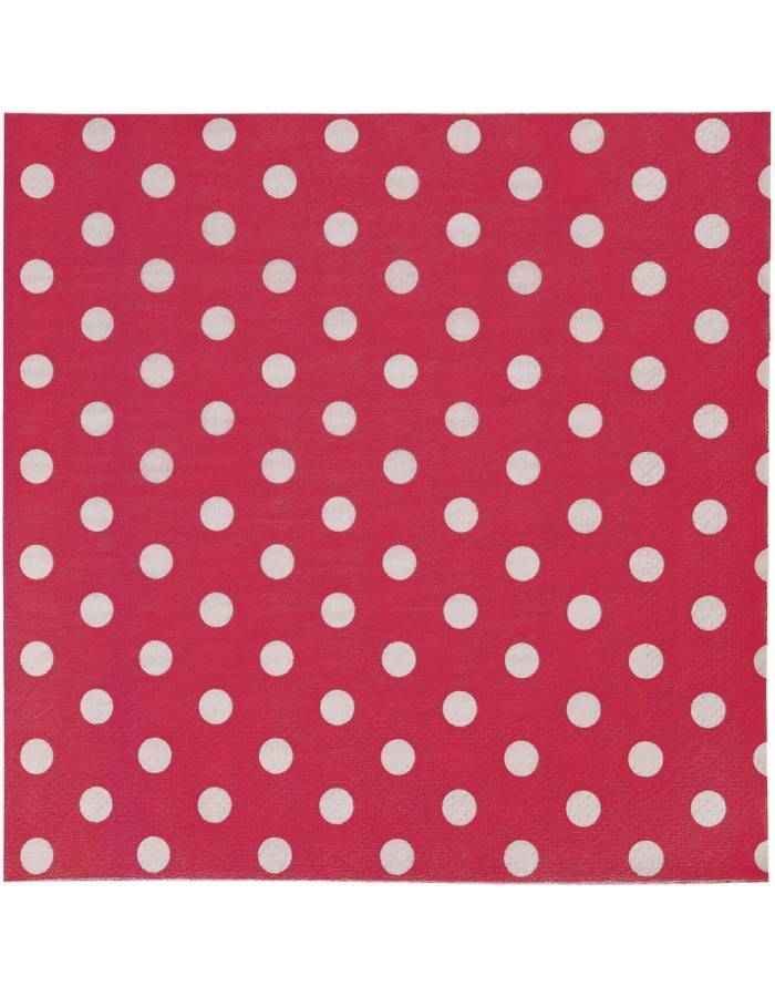 62452R Clayre Eef paper napkins 16x16 cm in red