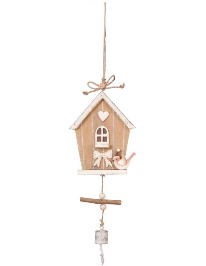 6H0676 Clayre Eef - BIRDHOUSE pendant natural