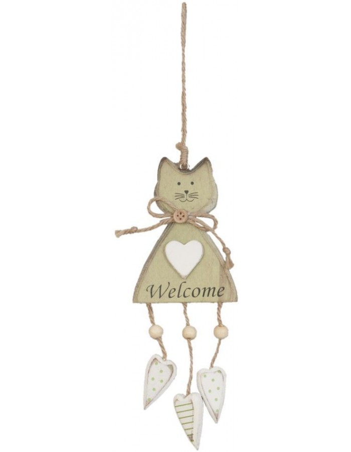 6H0743SGR Clayre Eef - CAT pendant green