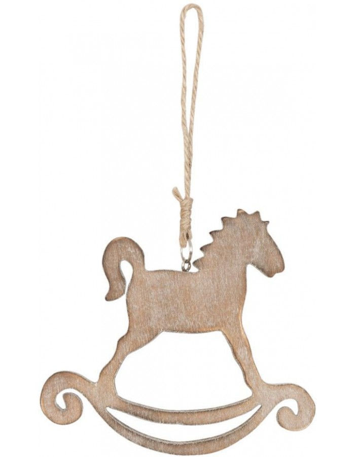 6H0755CH Clayre Eef - ROCKING HORSE pendant Light-brown