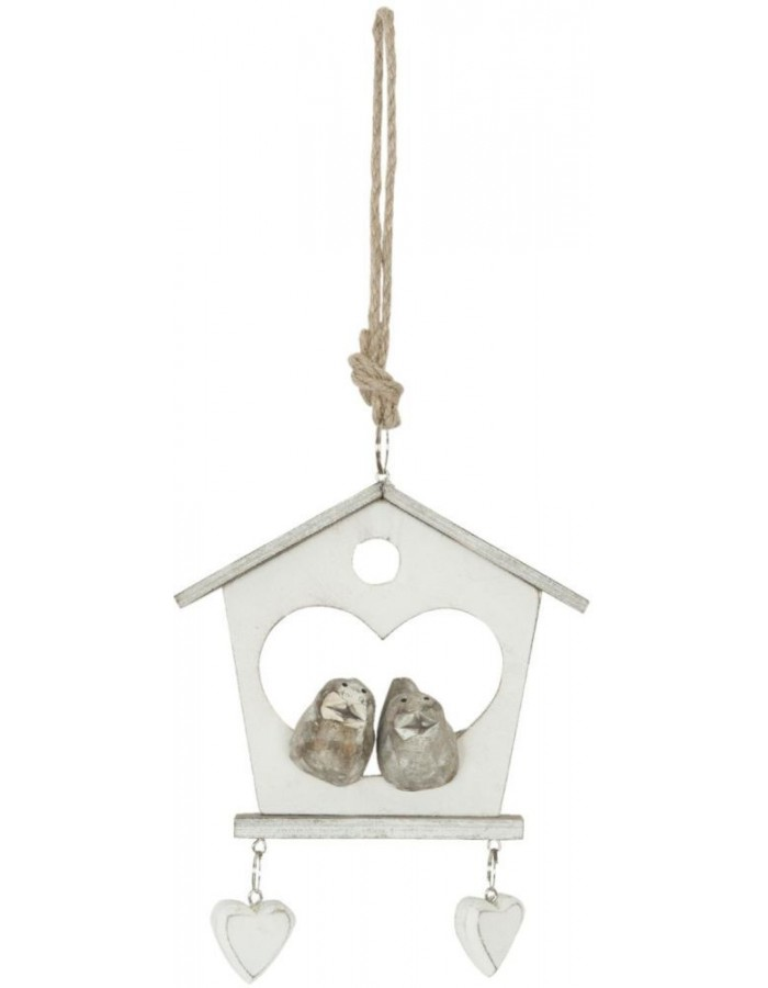 6H0811 Clayre Eef - BIRDHOUSE pendant natural