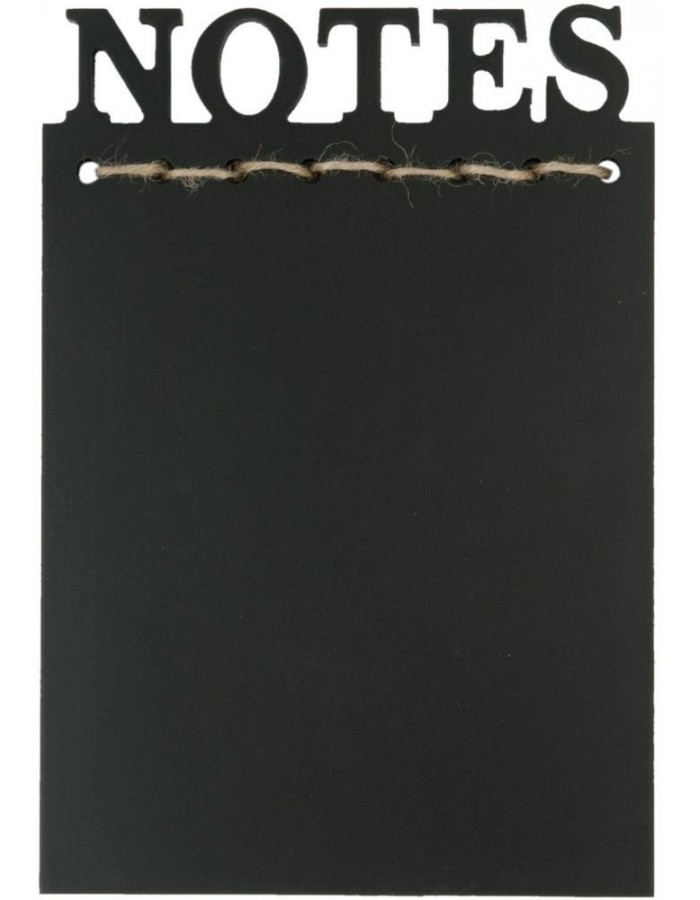 6H0846 Clayre Eef - blackboard NOTES black