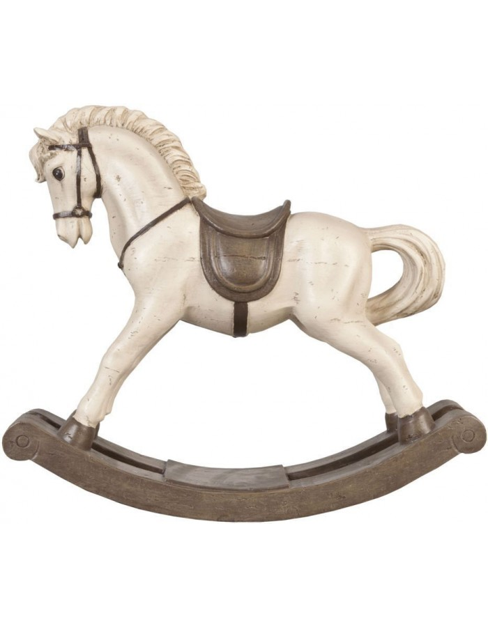6PR0417 Clayre Eef - decoration ROCKING HORSE