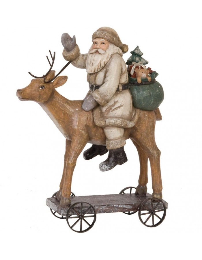 6PR0621 Clayre Eef - decoration Father Christmas