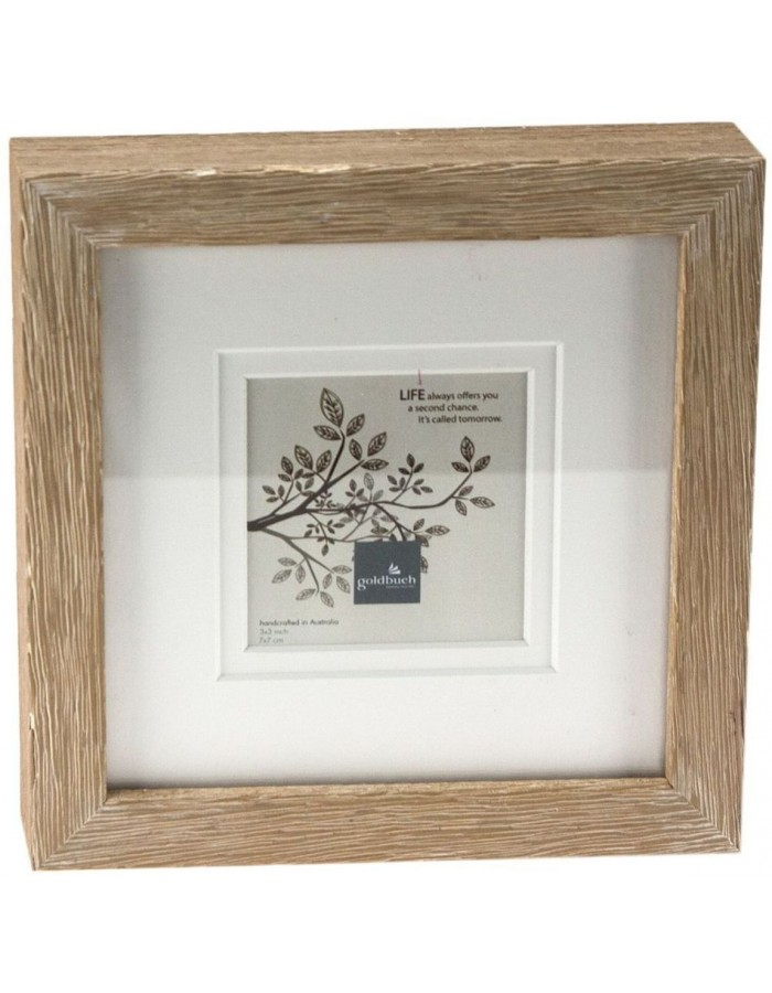 Gold book 7x7 cm photo frames deluxe woodgrain taupe | fotoalben ...