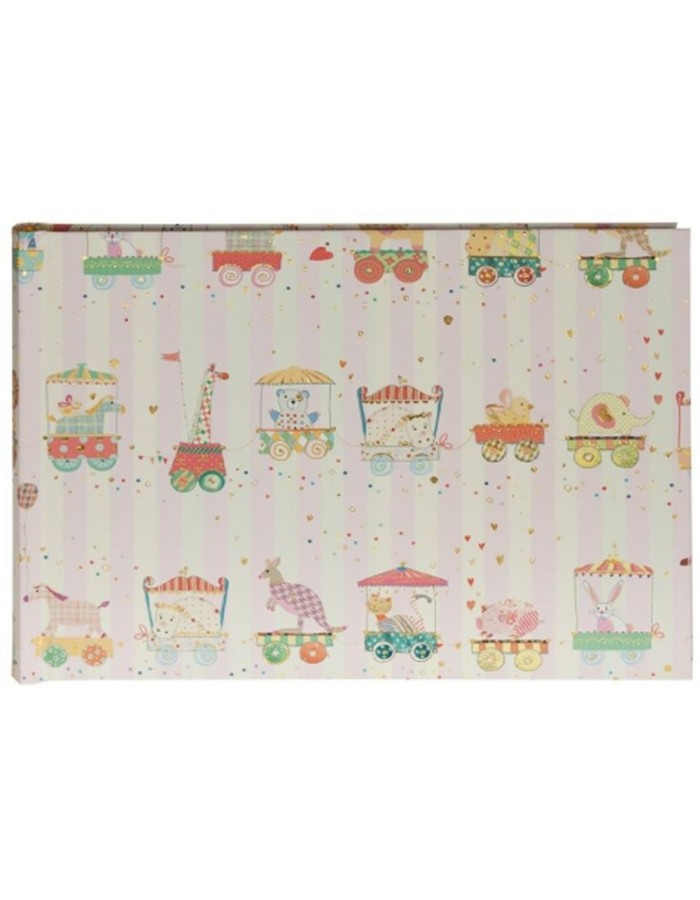 baby photo album ANIMAL TRAIN pink 22x16 cm