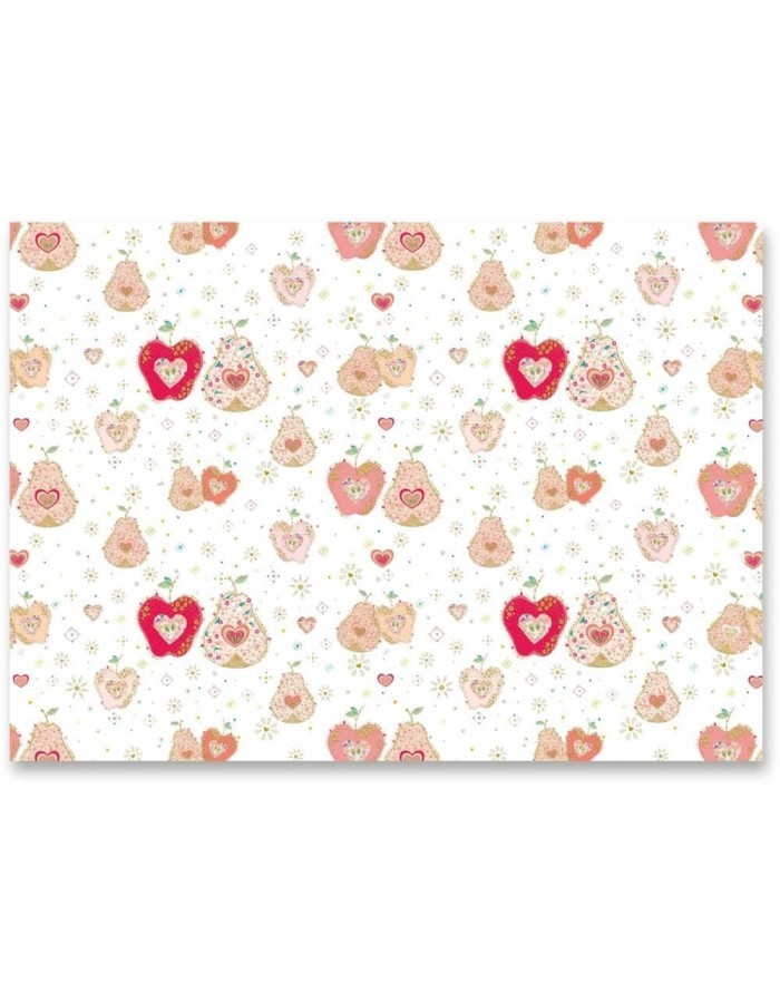 APPLE & PEAR IN LOVE wrapping paper