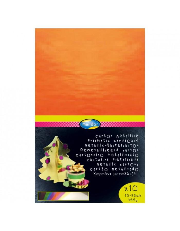 Alukarton 25x35 255g 10 Blatt 10 Farben sortiert