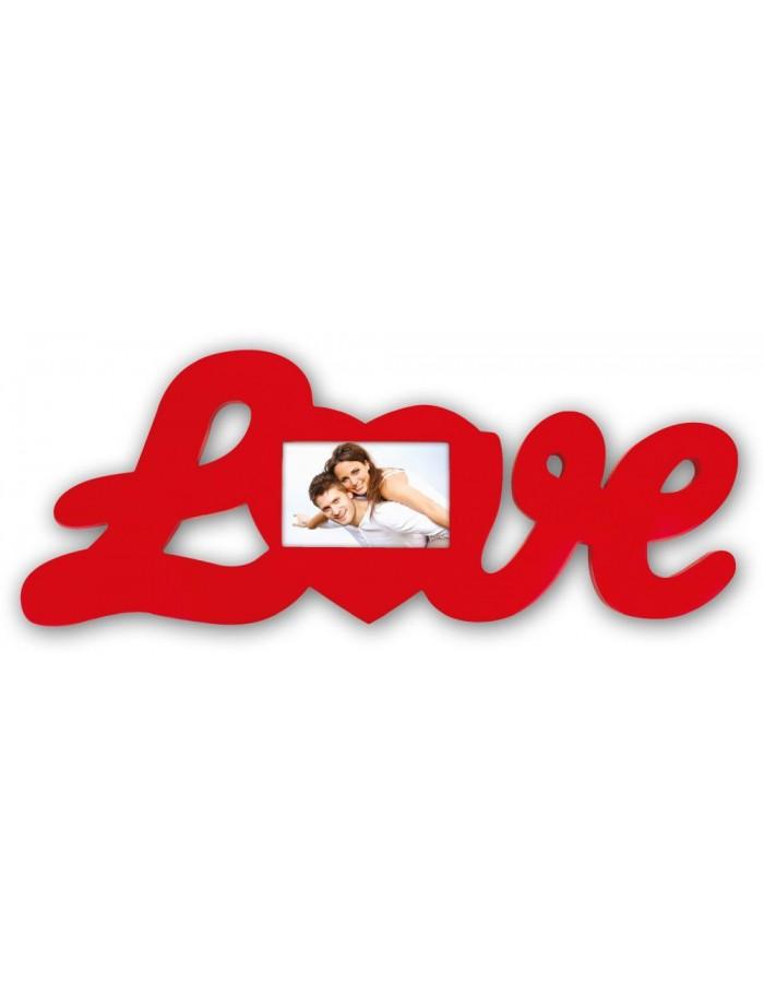 Antonia Rahmen Schriftzug Love rot   fotoalben-discount.de