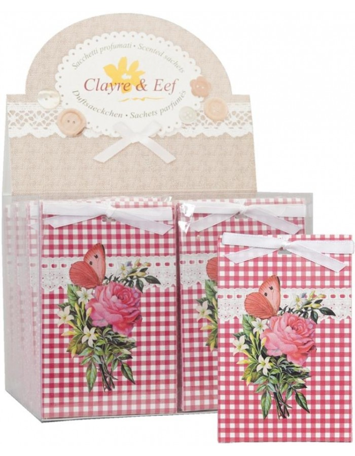 Aroma bag ROSE BOUQUET 8 x 12 cm red