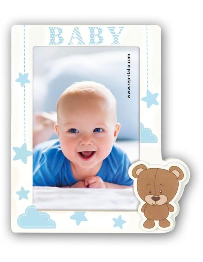Baby Bilderrahmen Aron blau 10x15 cm | fotoalben-discount.de