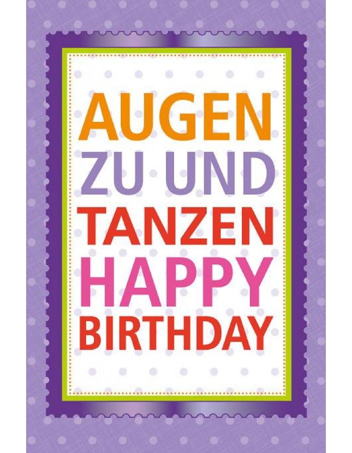 Happy Birthday Karte.Artebene Card Birthday Eyes And Dancing