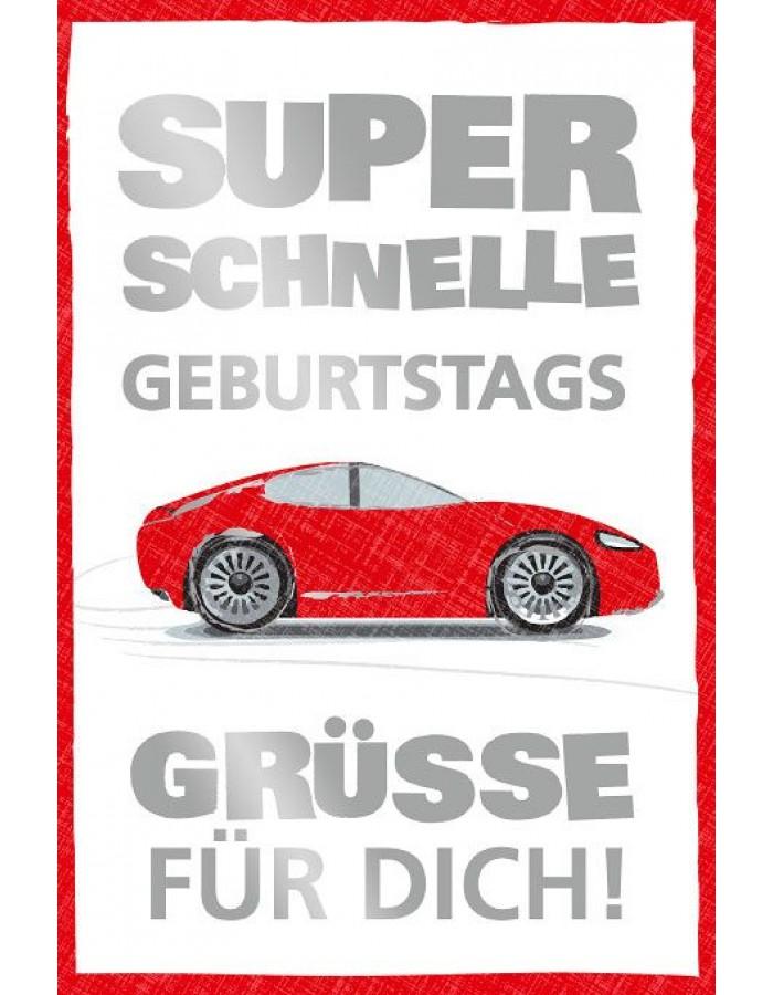 Artebene Karte Geburtstag Auto ARTEBENE   fotoalben-discount.de