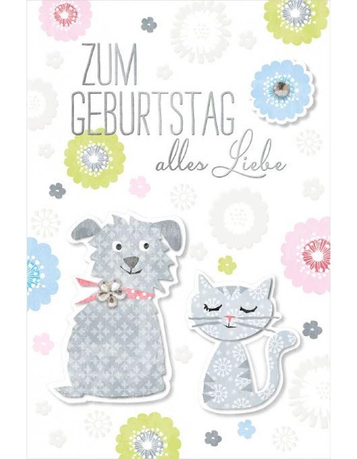 Artebene Karte Geburtstag Hund Strass 3d Gepragt Artebene