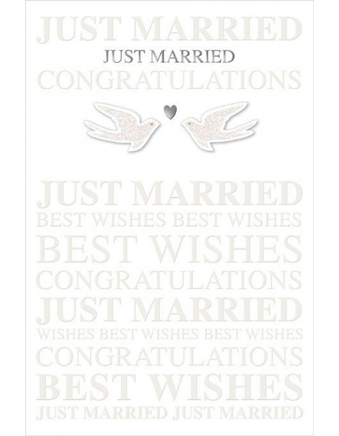 Artebene Karte Just Married Typographie