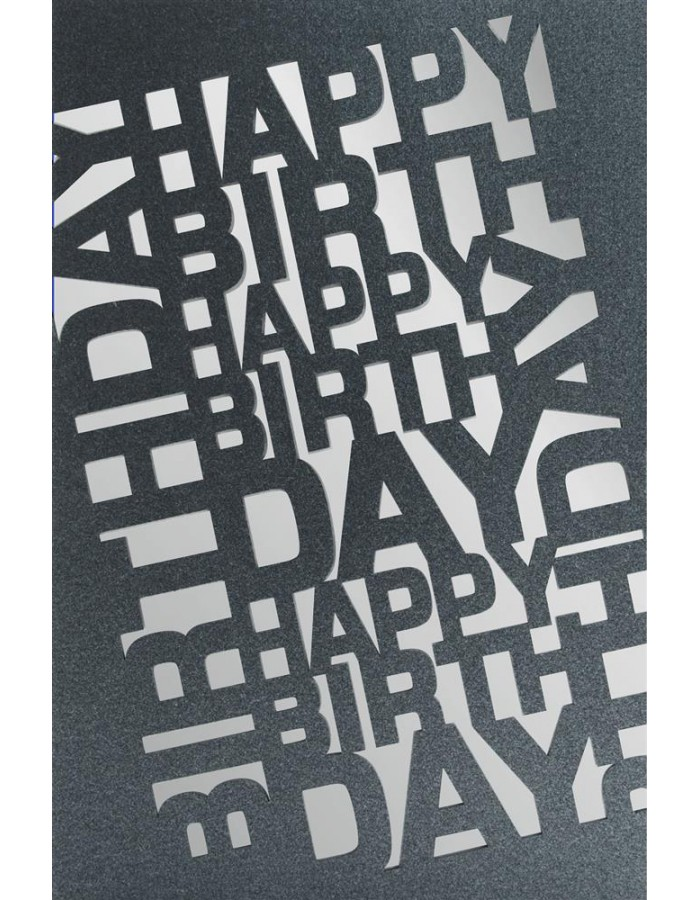 Artebene Karte Laser/Happy Birthday/blau