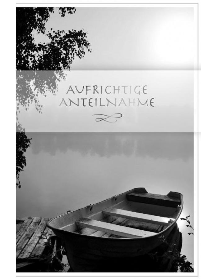 Artebene Karte Trauer Anteilnahme Boot Transparent ARTEBENE ...