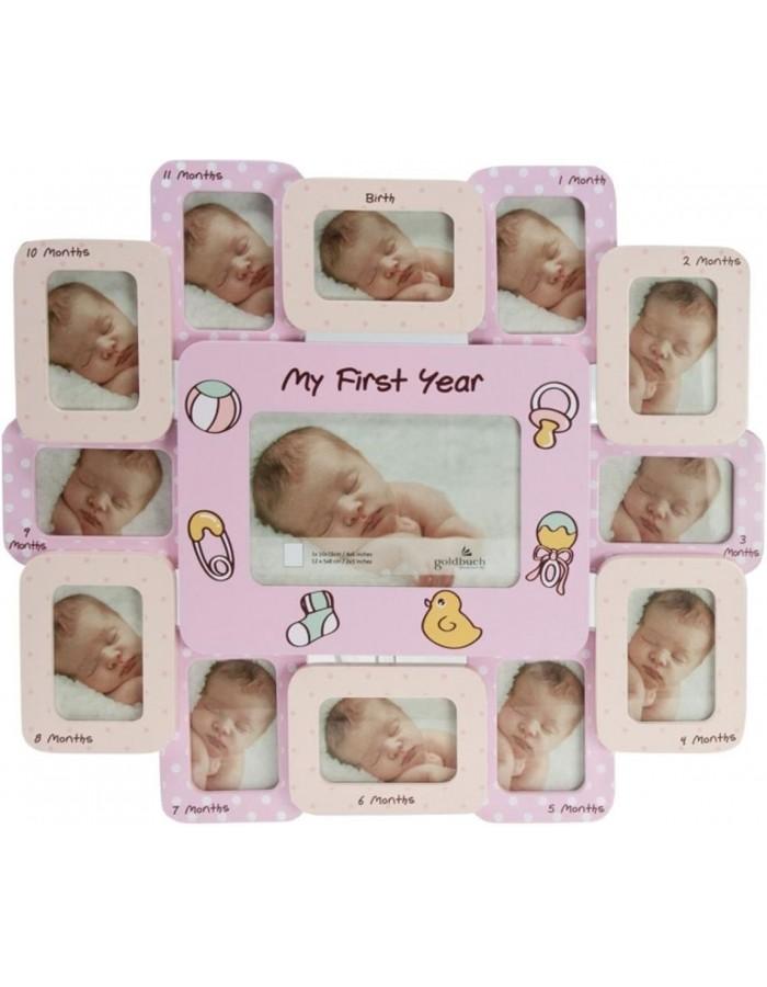 Baby Galerierahmen 1. Jahr Crescita rosa von Goldbuch