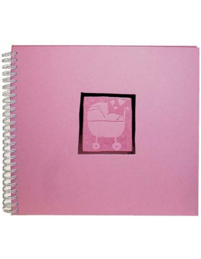 baby wire-o photo album baby buggy