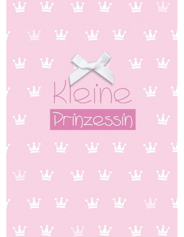 Card for a baby  girl in pink Kleine Prinzessin