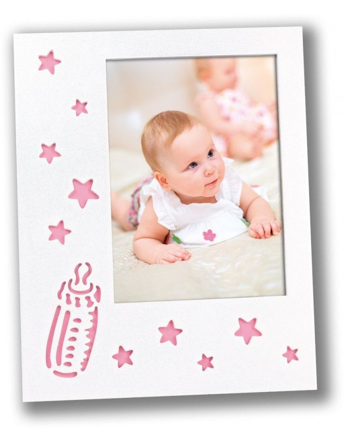 baby photo frame ENRICA 10x15 cm pink