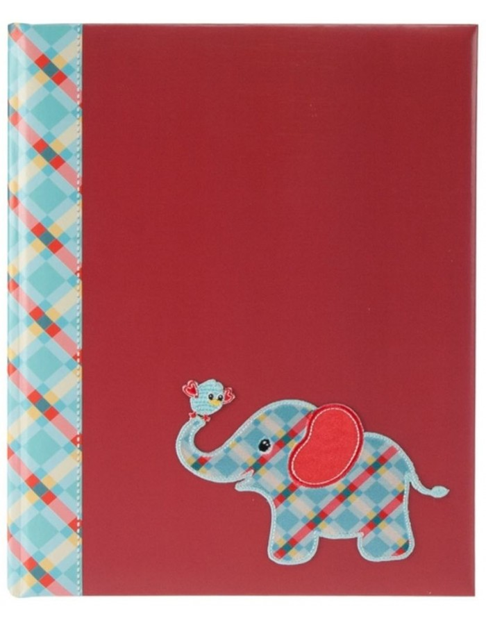 baby diary Elefant red