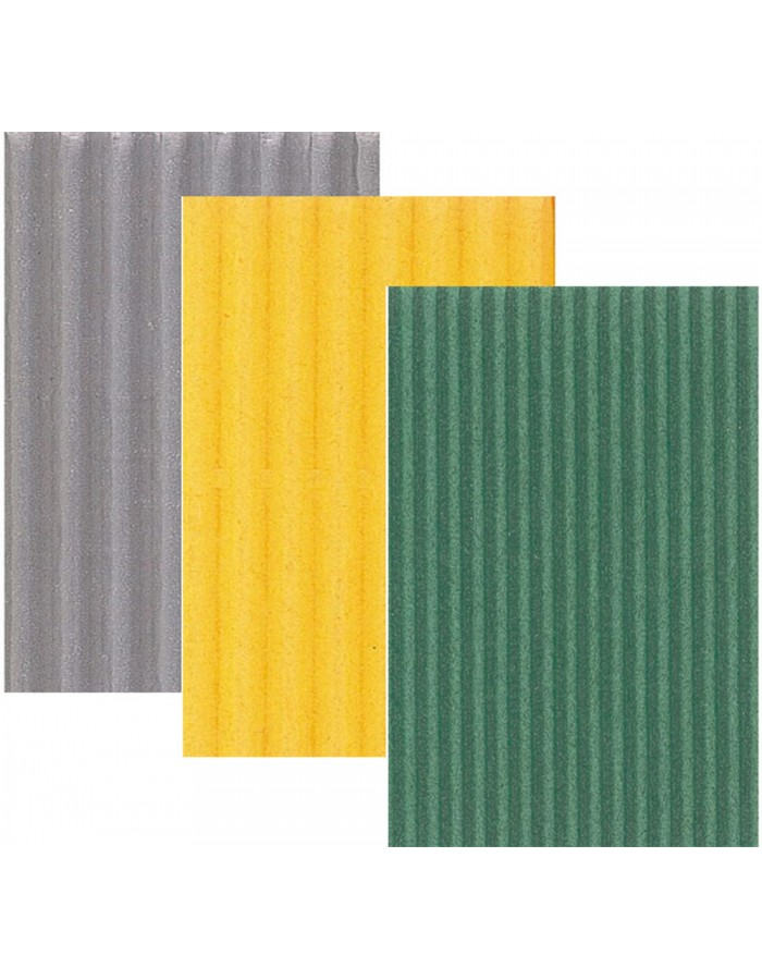 corrugated paper 2 sizes - different colours