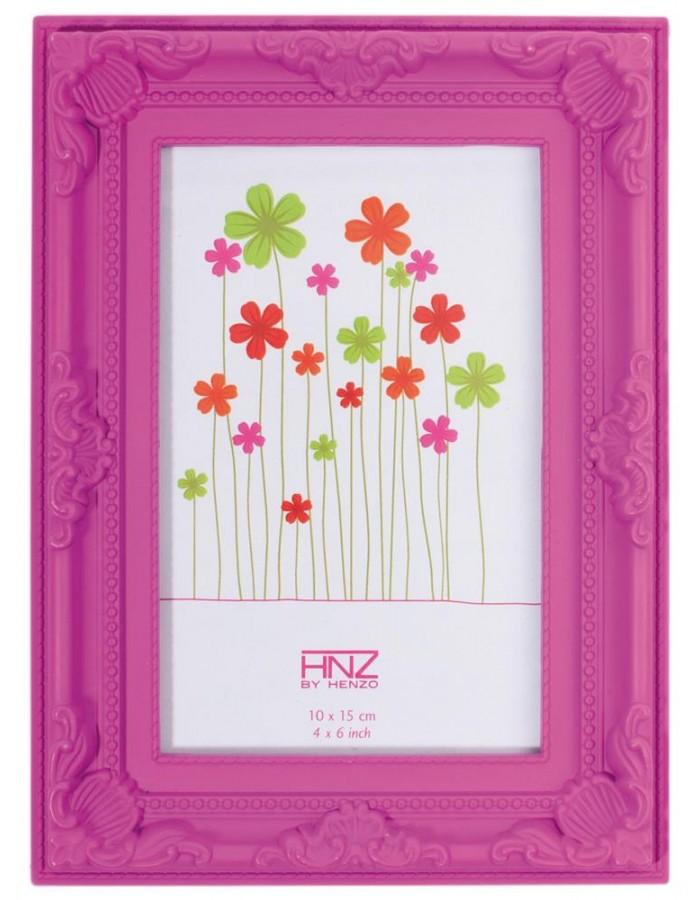 Henzo Bilderrahmen Colour Barock rosa 10x15 cm | fotoalben-discount.de