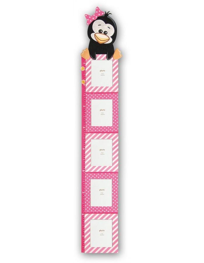 Pinguin pink Messlatte für Kinder | fotoalben-discount.de