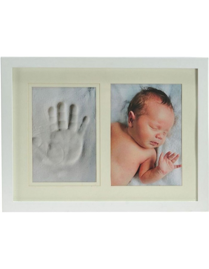 baby photo frame STAR white 13x18 cm