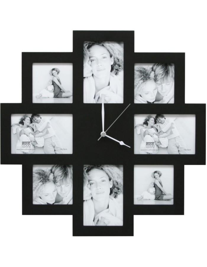 Bilderrahmen Uhr 8 Fotos 48x48 cm schwarz Deknudt | fotoalben ...