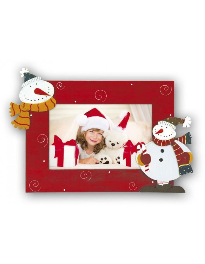 KIBERG A - Weihnachts-Bilderrahmen dekoriert mit Schneemännern