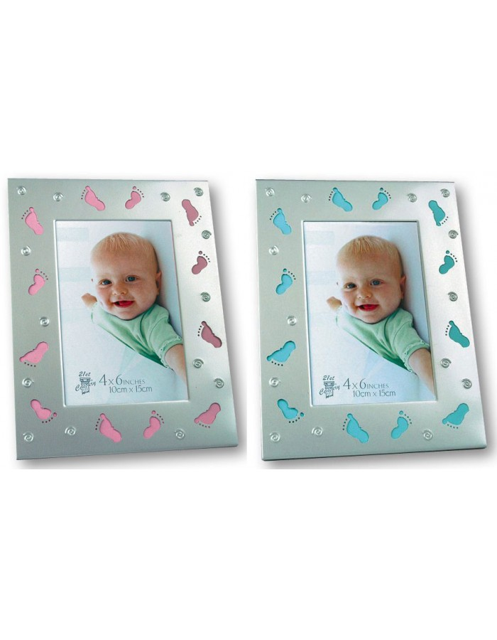 Chico and Chica Baby photo frame blue and pink