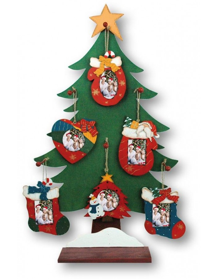 Zep Christmas Tree Ornaments Wooden Frame 5x5 Cm And 4x5 Cm Fotoalbe