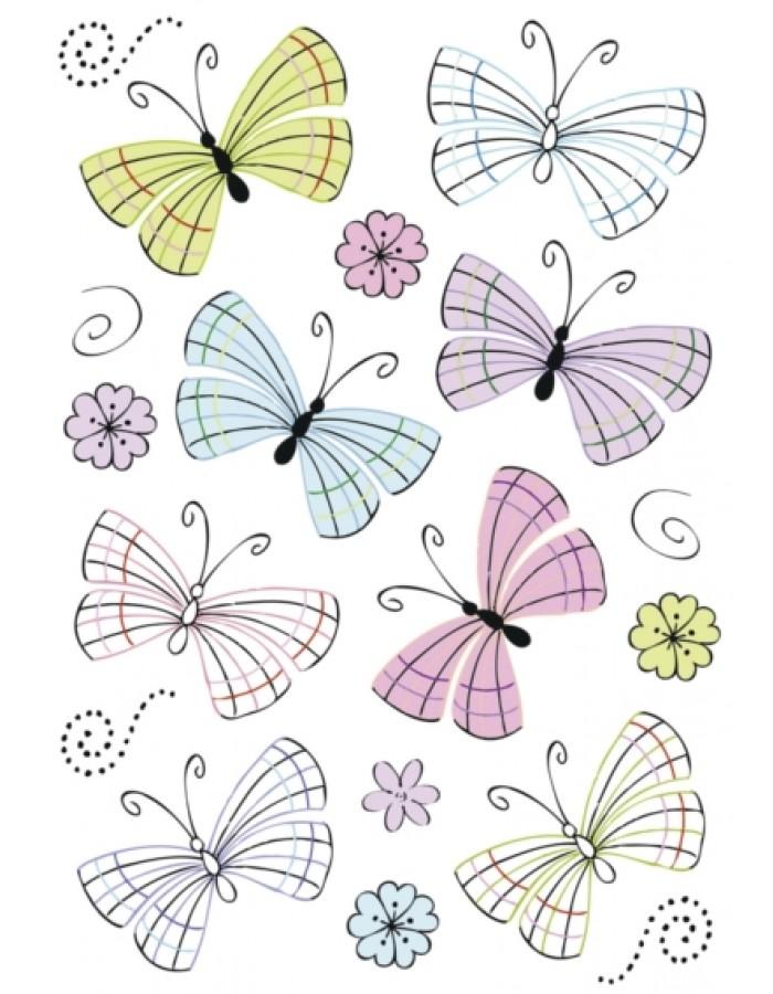 DECOR moderne Schmetterlinge Folie Herma | fotoalben-discount.de