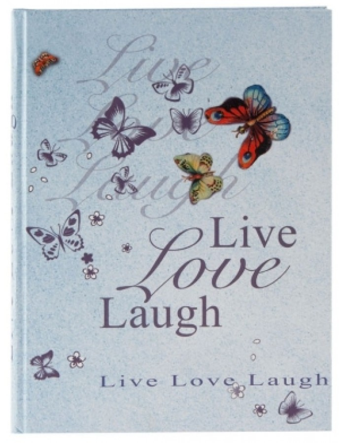 DIN A5 Notizbuch LIVE LOVE LAUGH