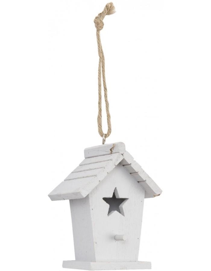 Deko Vogelhaus Zum Aufhängen Stern Weiß Fotoalben Discountde