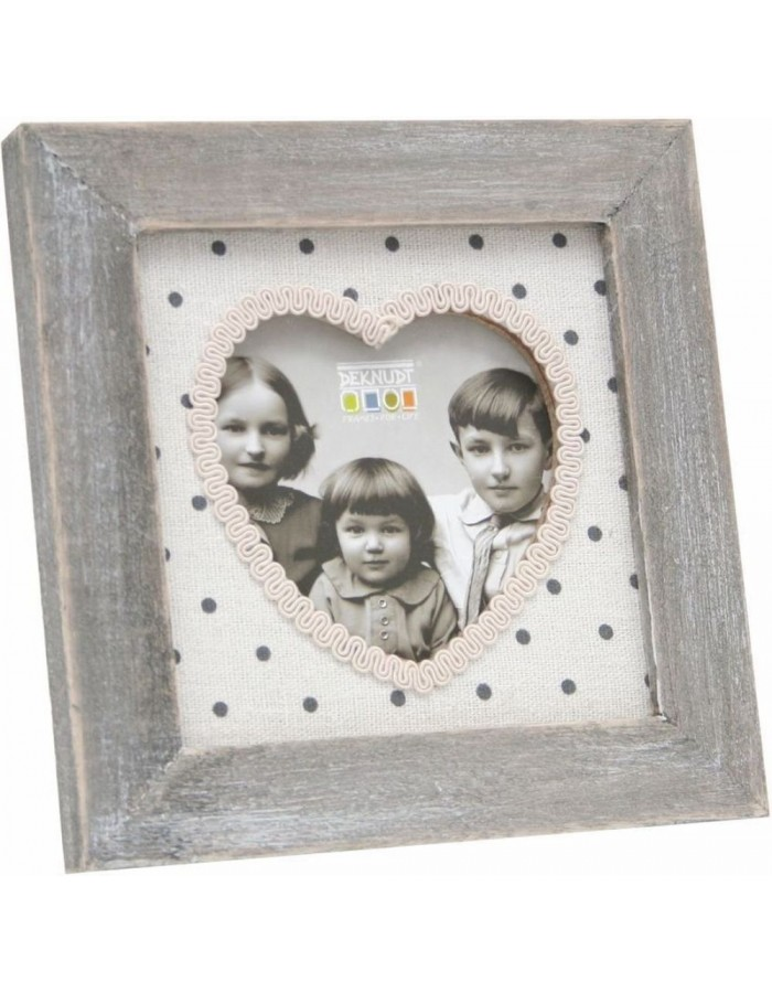 Decorative frame 8x8 cm gray with Sweetheart