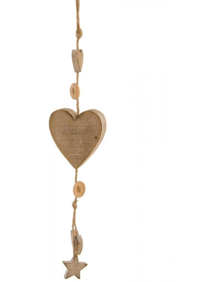 decoration hanger made of wood - 6H0906 Clayre Eef