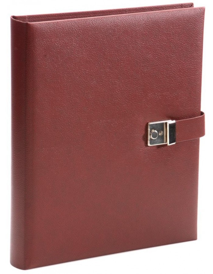 Bologna document case in red by Goldbuch