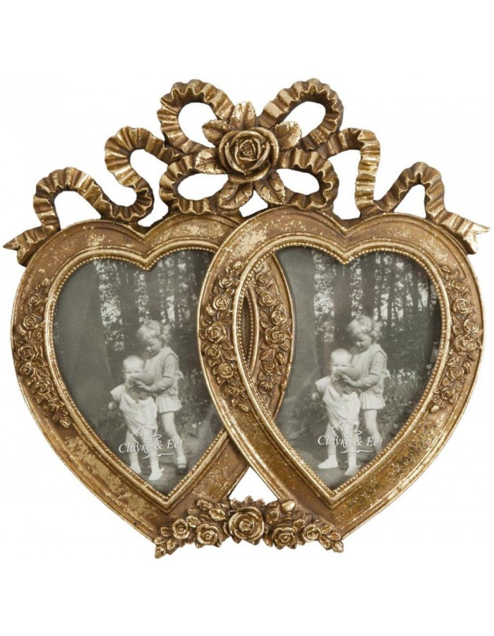 Double heart frame 2 photos 9x13 cm | fotoalben-discount.de
