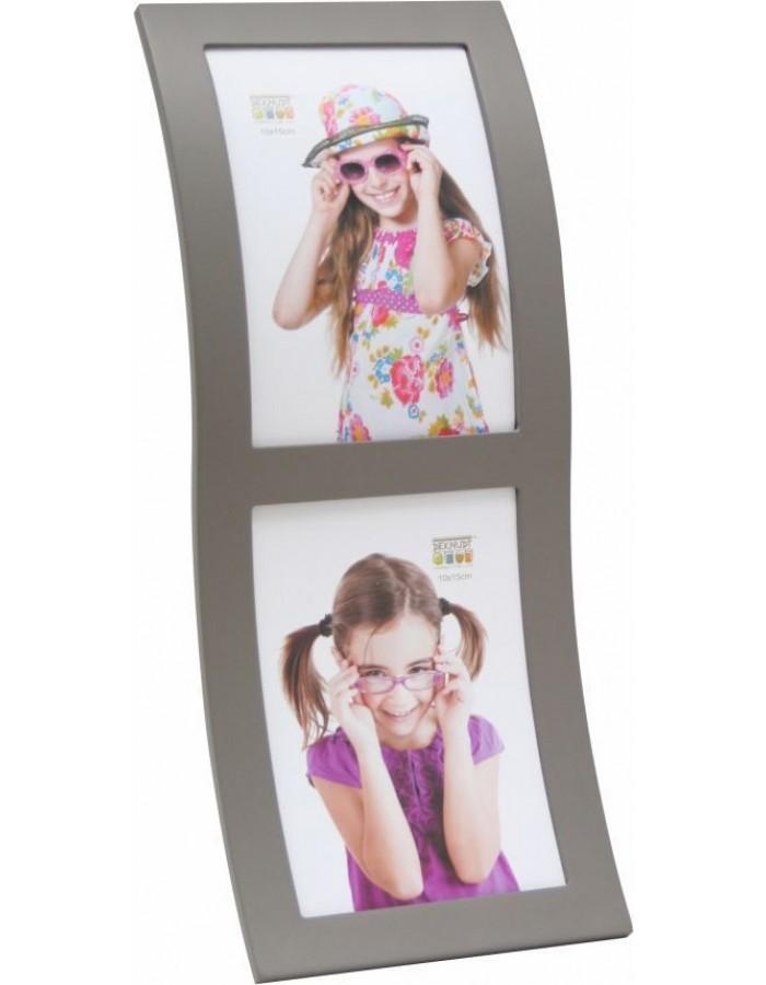 Deknudt Doppelrahmen S67S taupe 2 Fotos 10x15 cm gebogen | fotoalben ...